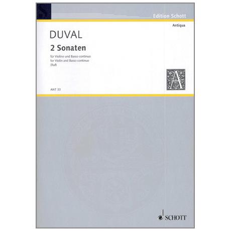 Duval, F.: Zwei Sonaten D-Dur und G-Dur