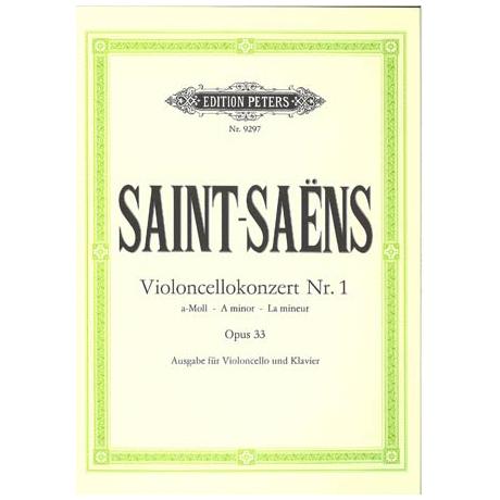 Saint-Saens, C.: Cellokonzert Nr. 1 a-moll, op. 33 (Urtext)