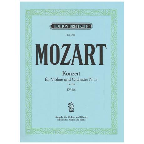 Mozart, W.A.: Konzert G-Dur Nr.3 KV216