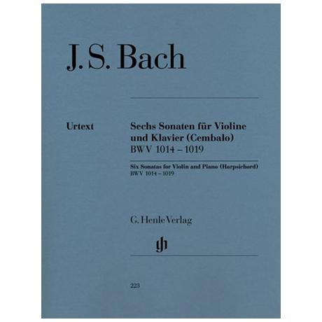 Bach, J. S.: 6 Violinsonaten BWV 1014-1019