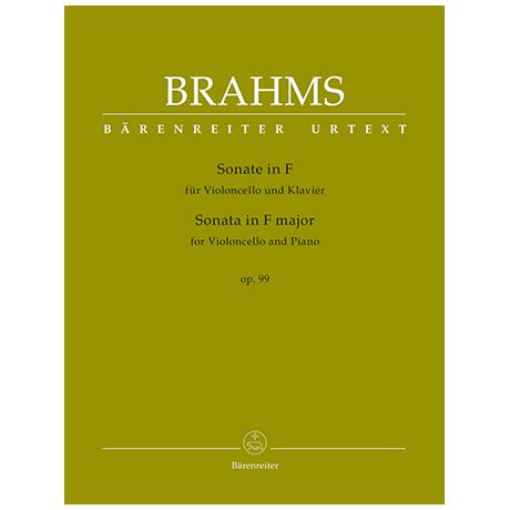 Brahms, J.: Sonate Op.99 F-Dur