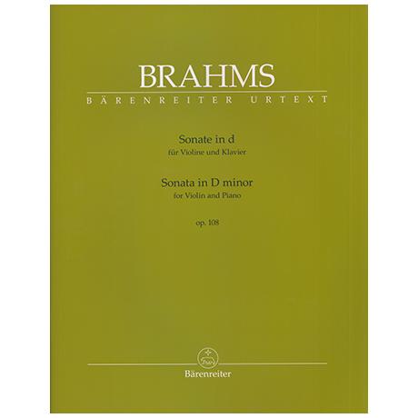Brahms, J.: Sonate für Violine und Klavier Op. 108 d-Moll
