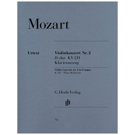 Mozart, W.A.: Violinkonzert Nr. 2 D-Dur, KV 211 mit Kadenz Urtext
