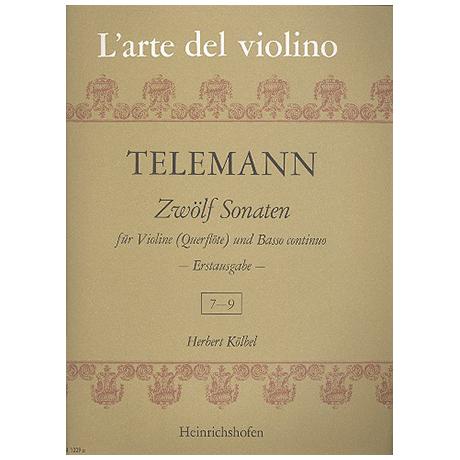Telemann, G. Ph.: 12 Violinsonaten Band 3 (Nr.7-9)