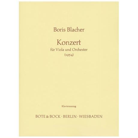 Blacher, B.: Konzert