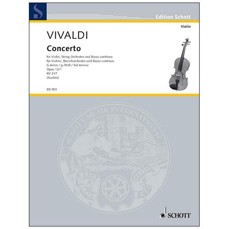 Vivaldi, A.: Konzert Nr. 1 Op. 12 g-Moll