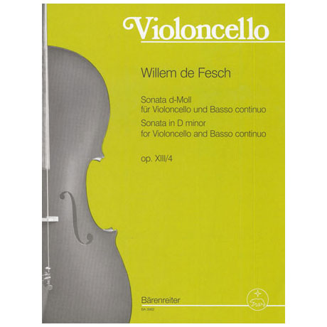 Fesch, William de: Sonate Op.13 Nr.4 d-moll