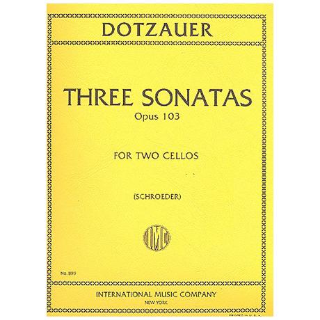 Dotzauer: 3 Sonaten Op.103