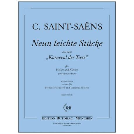 Saint-Saëns, C.: Neun leichte Stücke aus dem »Karneval der Tiere«