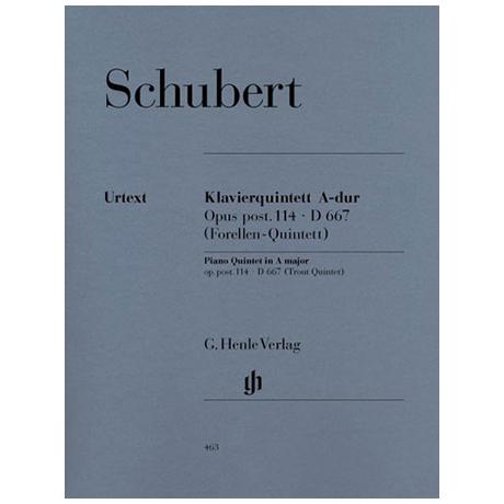 Schubert, F.: Klavierquintett A-Dur (Forellen), Op. post. 114, D 667, Urtext