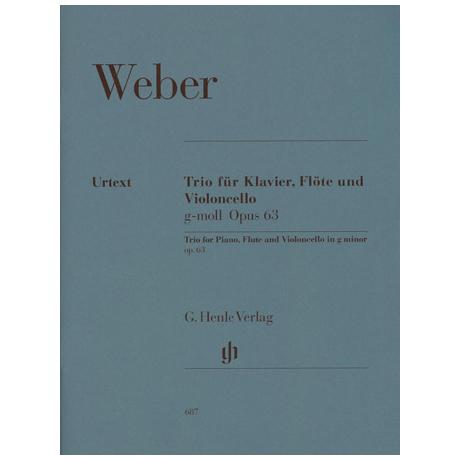 Weber, C.M.v.: Trio g-Moll, Op. 63 Urtext