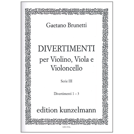 Brunetti, G.: Divertimenti 1-3