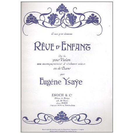 Ysaye, E.: Rêve d'enfant Op.14