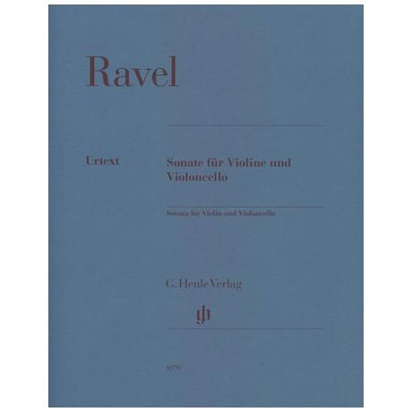 Ravel, M.: Sonate