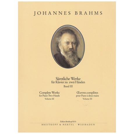 Brahms, J.: Sämtliche Werke Band III: Studien und Bearbeitungen