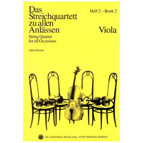 Das Streichquartett zu allen Anlässen Band 2 – Viola