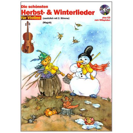 Die schönsten Herbst- und Winterlieder mit CD