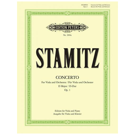 Stamitz, C.: Violakonzert D-Dur mit Kadenz