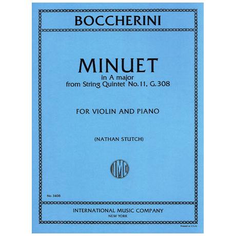 Boccherini, L.: Menuett aus Streichquartett Nr. 11 A-Dur