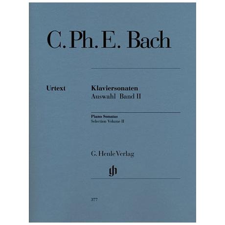 Bach, C.Ph.E.: Klaviersonaten Auswahl Band II