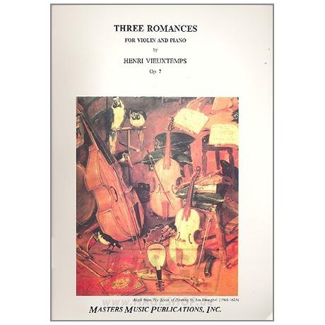 Vieuxtemps, H.: 3 Romanzen ohne Worte Op.7