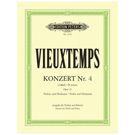 Vieuxtemps, H.: Violinkonzert Nr. 4 Op. 31