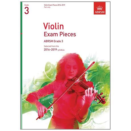 ABRSM: Violin Exam Pieces Grade 3 (2016-2019)