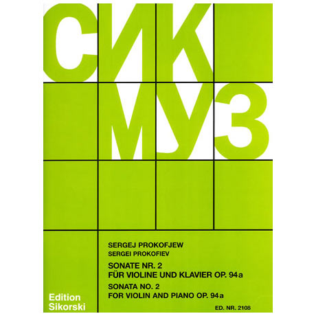 Prokofjew, S.: Sonate Nr. 2 Op. 94a