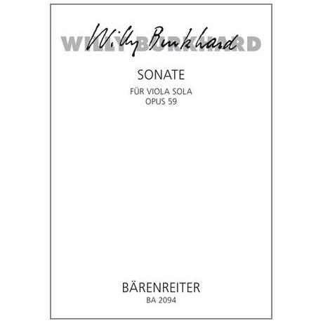 Burkhard, Willy: Sonate Op.59 (1939)