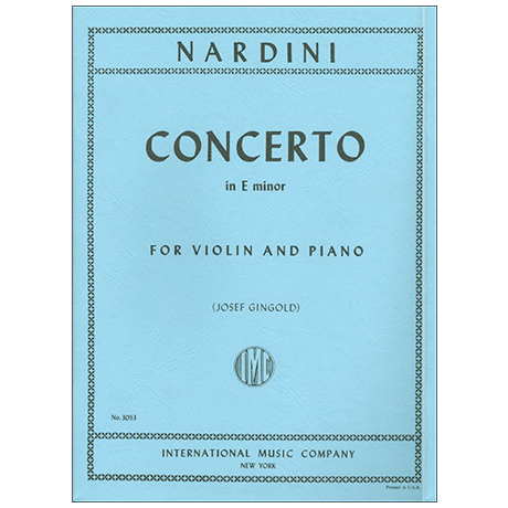 Nardini, P.: Konzert e-Moll