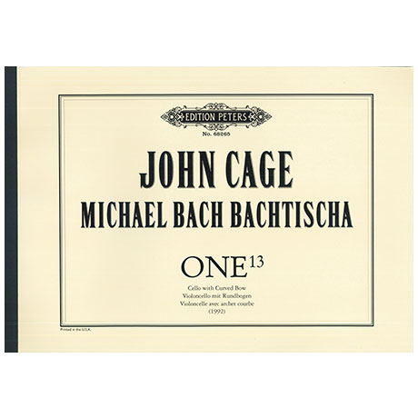 Cage, J. / Bach Bachtischa, M.: ONE13