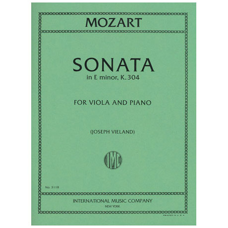 Mozart, W.A.: Violasonate in e-moll KV 304
