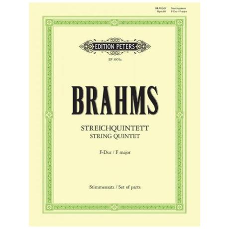 Brahms, J.: Streichquintett Nr. 1 F-Dur, Op. 88