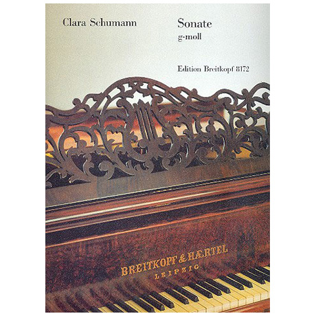 Schumann, C.: Sonate g-Moll. Erstdruck