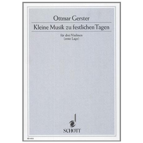 Gerster, O.: Kleine Musik zu festlichem Tag