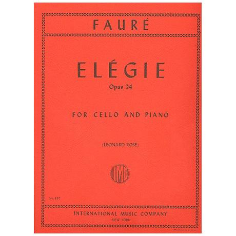 Fauré, G.: Elegie Op.24