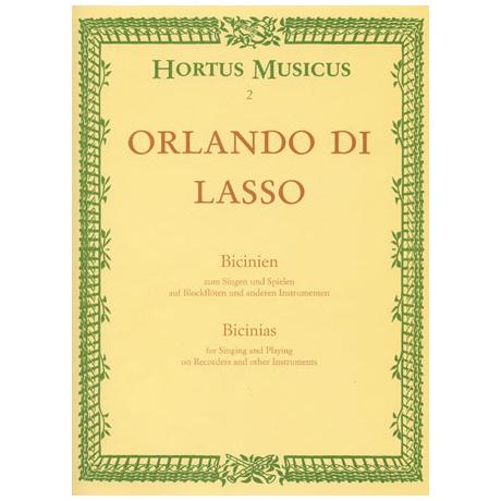Lasso, O.d.: Bicinien zum Singen und Spielen