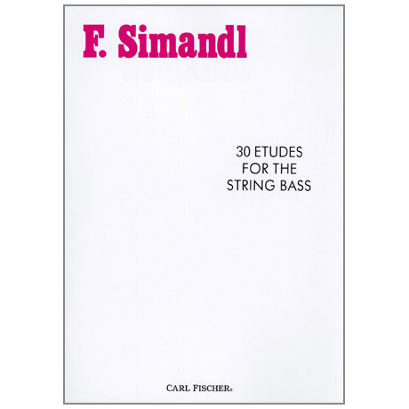 Simandl, Franz: 30 Etudes For The String Bass