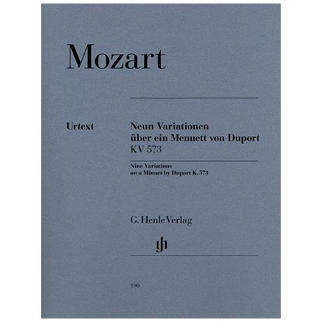 Mozart, W. A.: 9 Variationen über ein Menuett von Duport KV 573