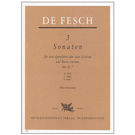 Fesch, W.d.: 3 Sonaten Op.7