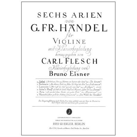 Händel, G. F.: 6 Arien Band 1 — Gebet
