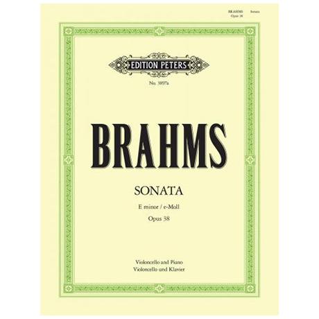 Brahms, J.: Violoncellosonate Nr. 1 Op. 38 e-Moll (Klengel)