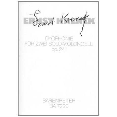 Krenek, E.: Dyophonie op. 241