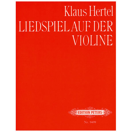 Hertel: Liedspiel auf der Violine