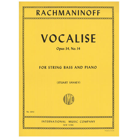 Rachmaninow, S.: Vocalise Op. 34/14
