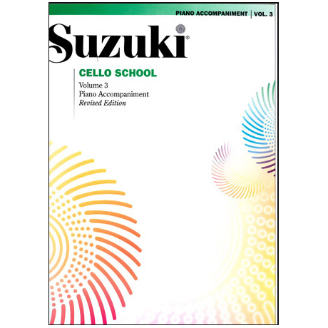 Suzuki Cello School Vol.3 – Klavierbegleitung