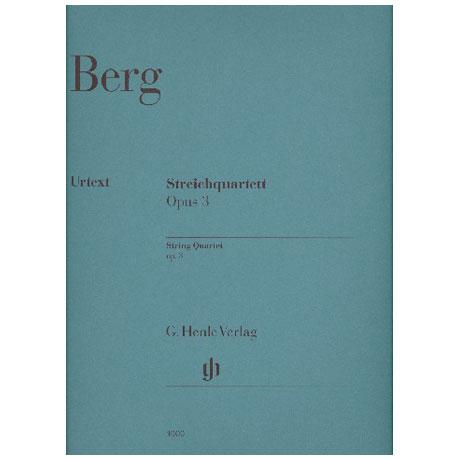Berg, A.: Streichquartett Op. 3