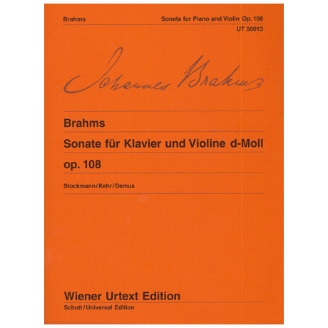 Brahms, J.: Sonate d-Moll Op.108