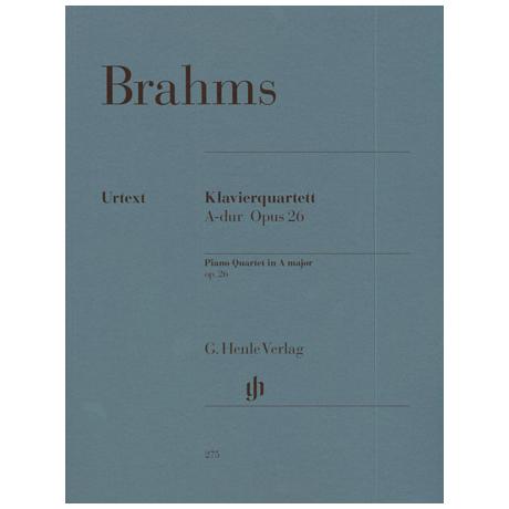 Brahms, J.: Klavierquartett A-Dur, Op. 26 Urtext