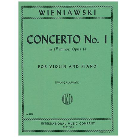 Wieniawski, H.: Concerto No.1 fis-Moll Op.14